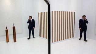 Paris, le 19 octobre : la 43e Fiac, la foire internationale d'art contemporain,au Grand Palais. (MAXPPP)