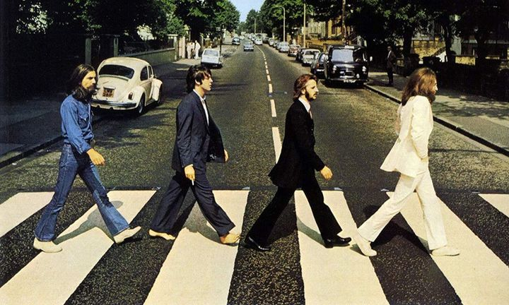 """La pochette de l'album des Beatles """"Abbey Road"""" (1969) (APPLE RECCORDS)"""