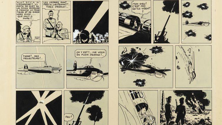 """La double planche du """"Sceptre d'Ottokar"""" d'Hergé a été adjugée 1,6 M d'euros  (Sotheby's Paris)"""