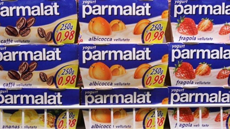 Des produits laitiers Parmalat dans une grande surface à Rome (AFP - ANDREAS SOLARO)