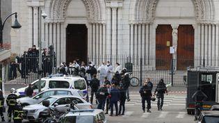 La basilique Notre-Dame à Nice, le 29 octobre 2020. (VALERY HACHE / AFP)
