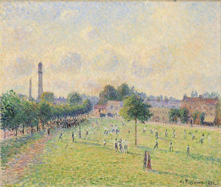 """Camille Pissarro, """"Kew Green"""", 1892, Musée d'Orsay, Paris, en dépôt au musée des Beaux-Arts de Lyon, legs de Clément et Andrée Adès, 1979.  (Lyon, MBA - Studio Alain Basset)"""