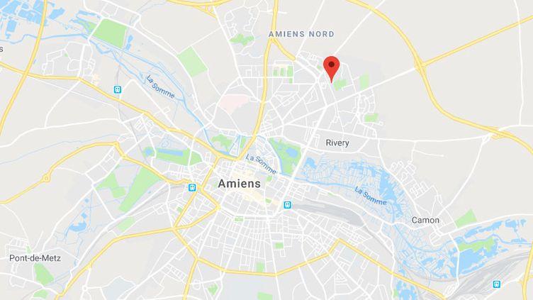 La ville d'Amiens (AMIENS / GOOGLE MAPS)