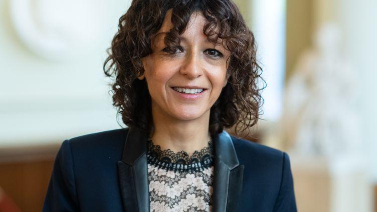 La prix Nobel de chimie française Emmanuelle Charpentier,directrice du Centre de recherche Max-Planck pour la science des pathogènes de Berlin (Allemagne), le 12 octobre 2020. (BERND VON JUTRCZENKA / DPA / AFP)