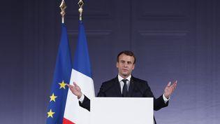 Emmanuel Macron au Grand Palais, à Paris, le 11 décembre 2017. (AFP)
