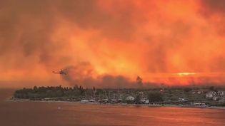 Grèce : de violents incendies ravagent toujours plusieurs parties du pays (France 2)