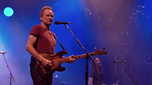 Sting sur la scène du festival Musilac d'Aix-les-Bains en Savoie, le 14 juillet 2017  (Culturebox / Capture d'écran)