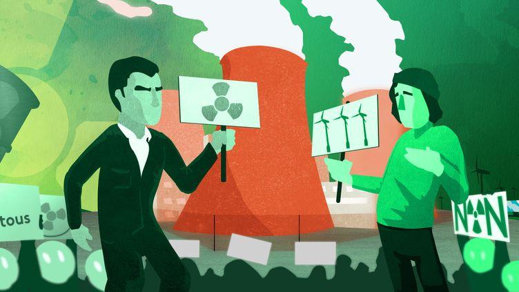 La question du nucléaire divise au sein même des écologistes. (PIERRE-ALBERT JOSSERAND / FRANCEINFO)