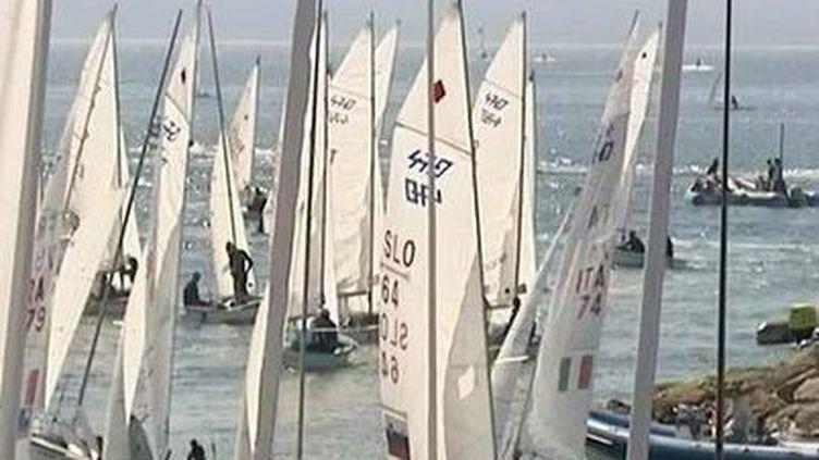 Des bateaux à voile. (CAPTURE D'ÉCRAN FRANCE 3)