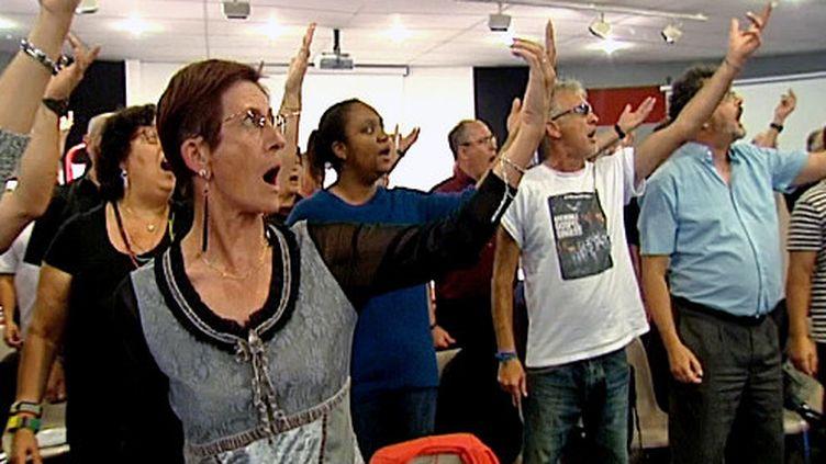 """Les """"Grenoble Gospel Singers"""" en pleine répétition  (France3/Culturebox)"""
