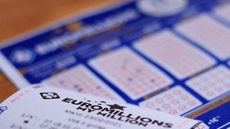 Une grille d'Euromillions, le mardi 23 février 2021. (MAXPPP)