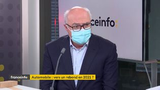 Patrick Koller, directeur général de Faurecia, était l'invité éco de franceinfo, lundi 22 février. (FRANCEINFO / RADIOFRANCE)