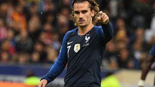 Le joueur de l'équipe de France Antoine Griezmann lors du match France-Turquie, le 14 octobre 2019 au Stade de France, à Saint-Denis (Seine-Saint-Denis). (MARTIN BUREAU / AFP)