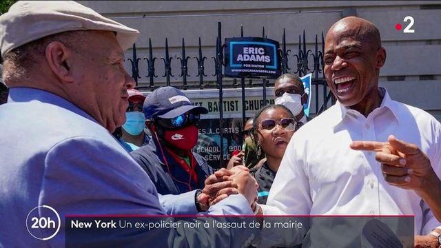 New York : Eric Adams, un ancien policier noir candidat à la mairie