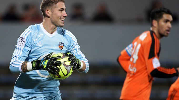 Benjamin Lecomte, dernier rampart du FC Lorient. (JEAN-SEBASTIEN EVRARD / AFP)