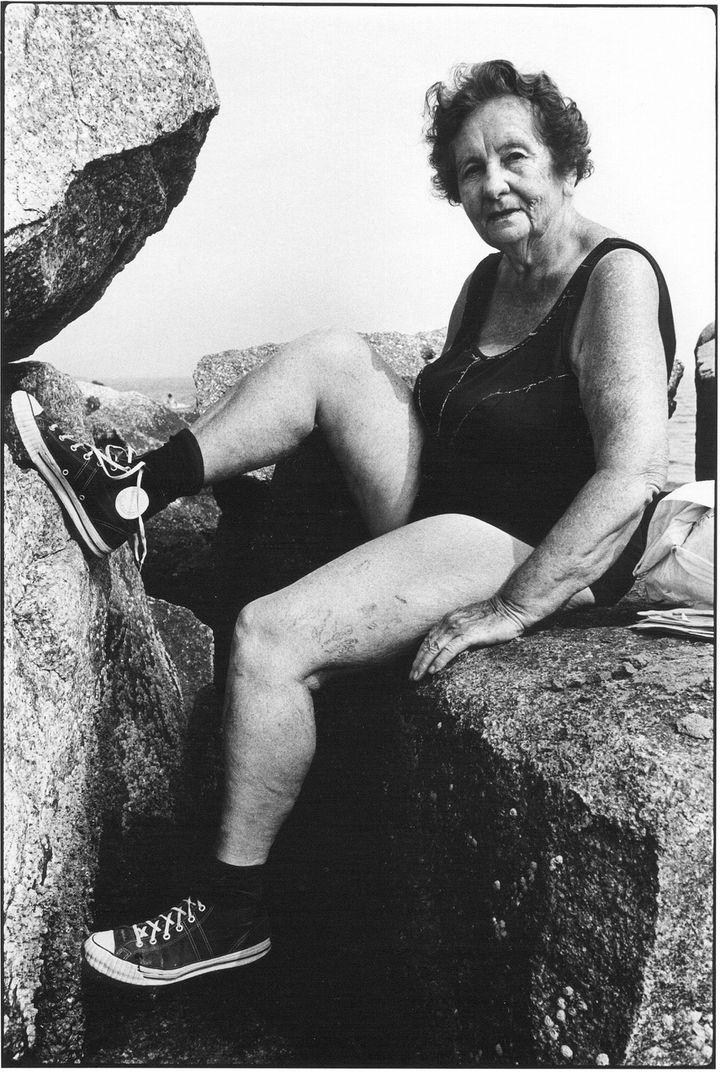 """Arlene Gottfried, """"Woman Wearing Sneakers"""", Coney Island, 1976 (Estate Gottfried)"""