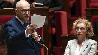 Le secrétaire d'Etat en charge des retraites, Laurent Pietraszewski, à l'Assemblée nationale, le 11 février 2020. (PHILIPPE LOPEZ / AFP)