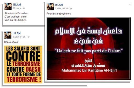 Sur Facebook, «Islam» s'est plusieurs fois désolidarisé du groupe État islamique. (DR / capture d'écran)