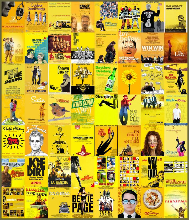Un montage, issu du blog du distributeur de chez SND, Christophe Courtois,qui rassemble différentes affiches de films indépendants. (CHRISTOPHE COURTOIS)