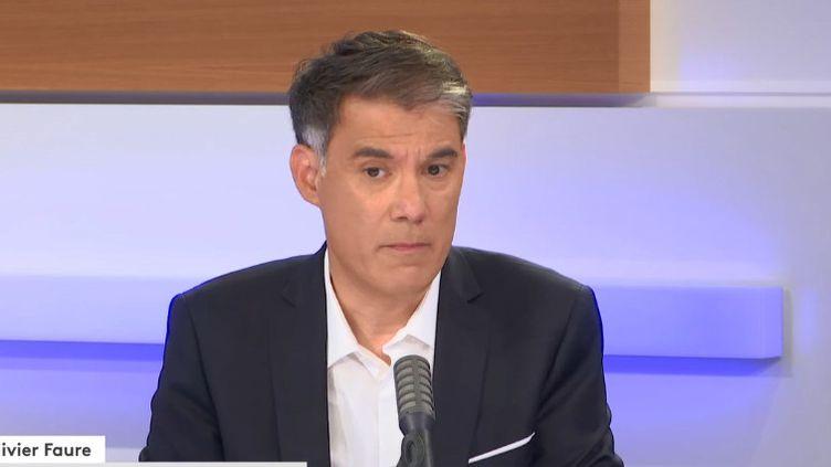 Olivier Faure, premier secrétaire du PS, invité du 18h50 franceinfo, le 25 juin 2020. (RADIO FRANCE)