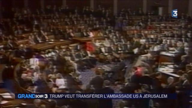 Israël :  Donald Trump veut déplacer l'ambassade des Etats-Unis de Tel-Aviv à Jérusalem