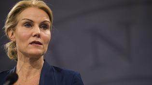 Helle Thorning-Schmidt, Première ministre du Danemark, le 15 février 2015 à Copenhague (Danemark). (ODD ANDERSEN / AFP)
