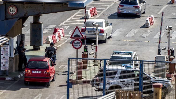 Le point de passage entre le Maroc et l'enclave espagnole de Ceuta le 4 septembre 2018. (FADEL SENNA / AFP)