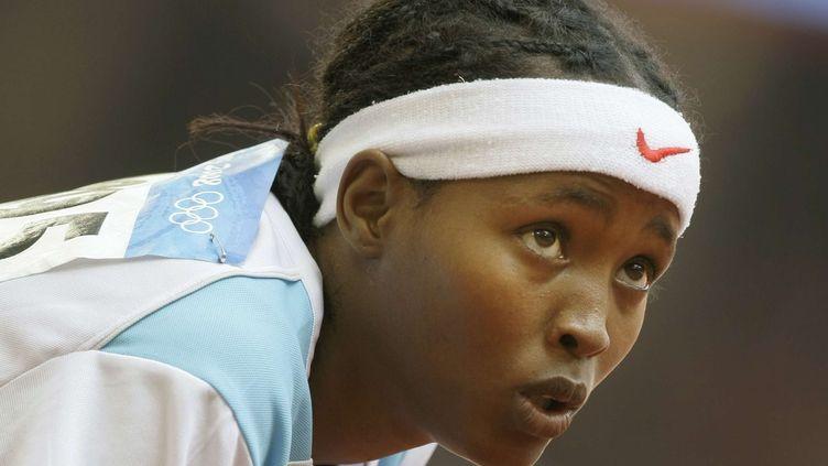 L'athlète Saamiya Yusuf Omar lors des jeux olympiques de Pékin (Chine), le 19 août 2008. (ANJA NIEDRINGHAUS / AP / SIPA)