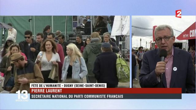 """Pierre Laurent : """"construire l'unité"""" à la Fête de l'Huma"""