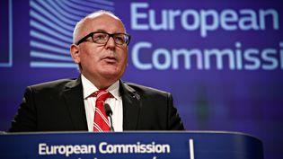 Le premier vice-président de la Commission européenne, Frans Timmermans, le 26 juillet 2017 à Bruxelles. (ALEXANDROS MICHAILIDIS / SOOC / AFP)