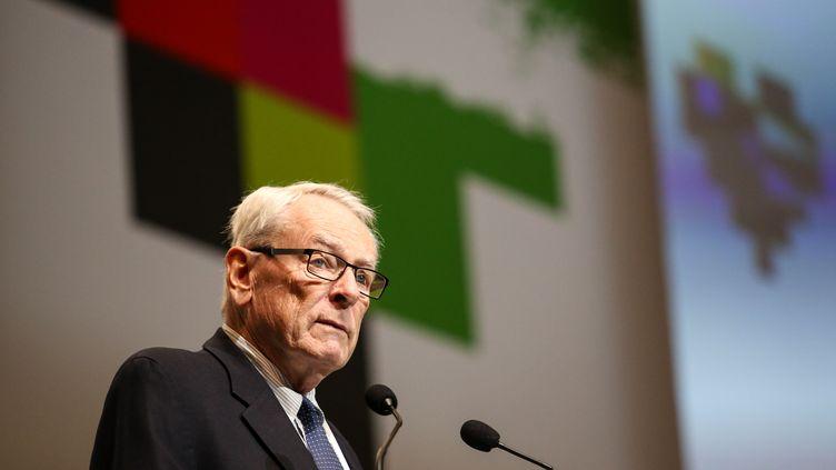 Dick Pound, ancien président de l'Ama et membre du CIO, assiste ici à une conférence de la lutte antidopage le 7 novembre 2019 à Katowice, en Pologne. (DOMINIKA ZARZYCKA / NURPHOTO)