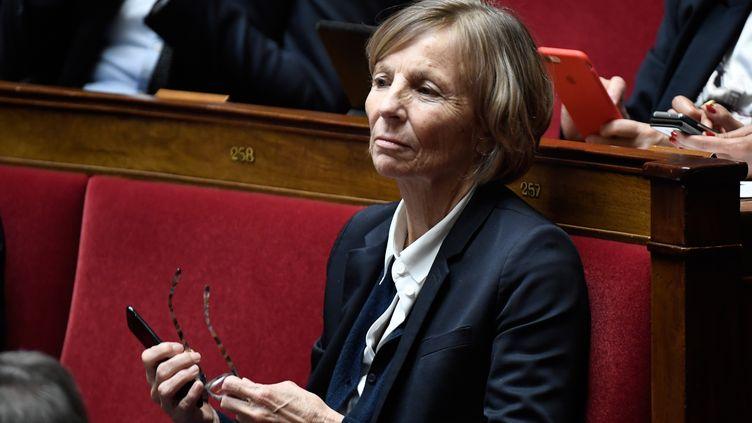 Marielle de Sarnez siège à l'Assemblée nationale à Paris, le 17 janvier 2017. (STEPHANE DE SAKUTIN / AFP)