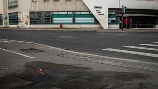 Le jeune homme s'est immolé par le feu devant le bâtiment du Crous de Lyon (Rhône), le 10 novembre 2019. (NICOLAS LIPONNE / NURPHOTO / AFP)