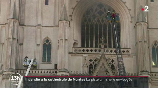 Nantes : un incendie à la cathédrale Saint-Pierre et Saint-Paul
