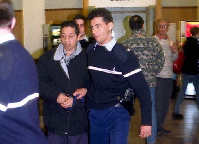 Interpellation d'Andres Palomino Barrios, à Perpignan (Pyrénées-Orientales), le 29 avril 2009. (MAXPPP)