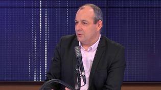 """Laurent Berger,secrétaire général de la CFDT était l'invité du """"8h30franceinfo"""", vendredi 27novembre 2020. (FRANCEINFO / RADIOFRANCE)"""