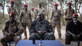 Ali Darassa, le dirigeant de l'UPC, l'un des principaux groupes armés en Centrafrique (ici le 16 mars 2019, près de la localité de Bambari). (FLORENT VERGNES/AFP)