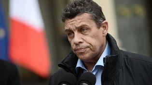 Le président de la FNSEA, Xavier Beulin, le 2 février 2016 dans la cour de l'Elysée (Paris). (STEPHANE DE SAKUTIN / AFP)