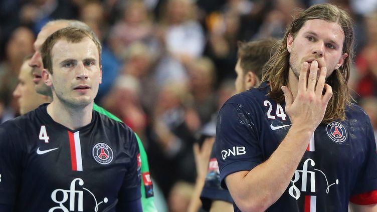 La déception de Fahrudin Melic et Mikkel Hansen (AXEL HEIMKEN / MAXPPP)