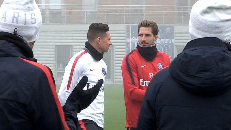 Julian Draxler lors de sa première séance d'entraînement au PSG