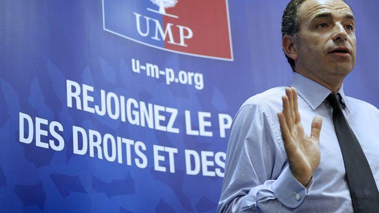 Jean-François Copé, à Caen (Calvados), le 19 juillet 2012. (CHARLY TRIBALLEAU / AFP)