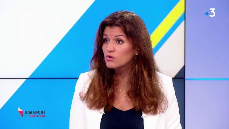 Marlène Schiappa, le 11 novembre 2018, sur le plateau de France 3. (FRANCE 3)