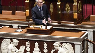 Le ministre de l'Economie, Bruno Le Maire, lors de l'examen du projet de budget 2021 à l'Assemblée nationale, le 17 novembre 2020. (BERTRAND GUAY / AFP)