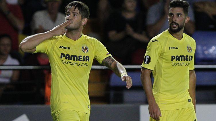 Pato, une nouvelle fois buteur pour Villareal (JOSE JORDAN / AFP)