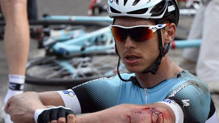 L'Allemand Tony Martin après une chute lors de la 1ère étape du Tour de France 2013
