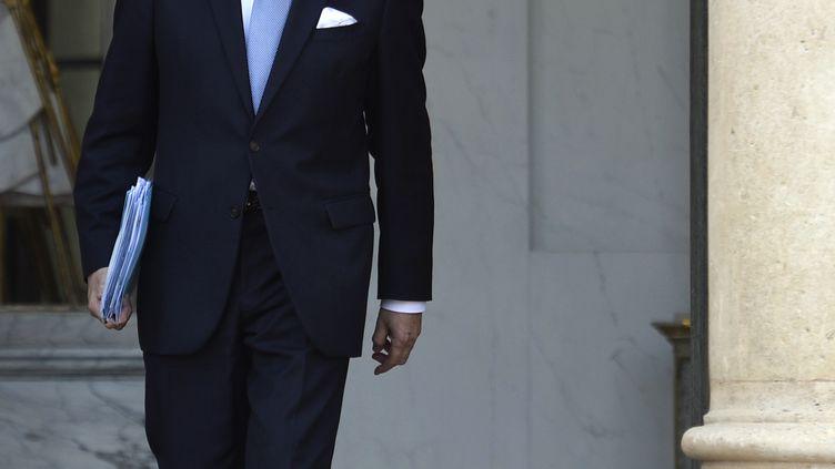 Laurent Fabius, ministre des Affaires étrangères, à l'Elysée, à Paris, le 9 avril 2014. (MARTIN BUREAU / AFP)