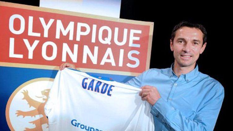 Le nouvel entraîneur de Lyon, Rémi Garde, lors de son intronisation