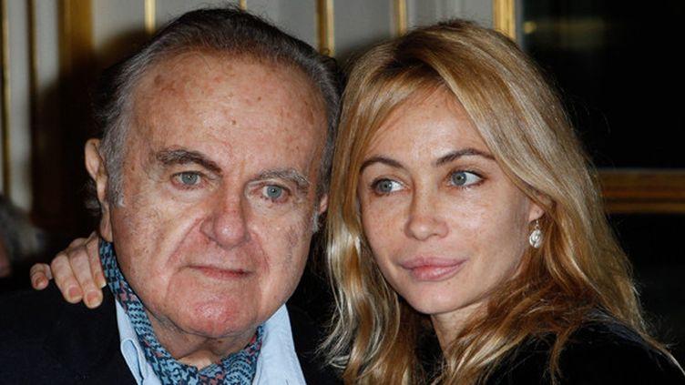 Guy Béart et sa fille Emmanuelle en 2012.  (Christophe Clovis / Tiboul / MaxPPP)