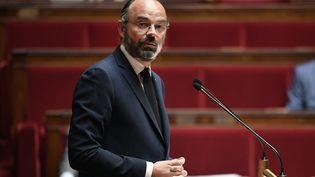 Le Premier ministre, Edouard Philippe, devant l'Assemblée nationale le 28 avril 2020. (DAVID NIVIERE / AFP)
