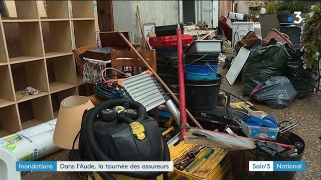 soir 3 : Inondations dans l'Aude : les sinistrés comptent sur les assurances